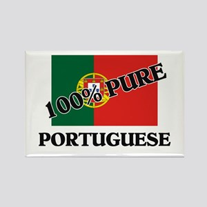100 Percent PORTUGUESE Rectangle Magnet
